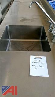 10' Stainless Steel Prep Sink