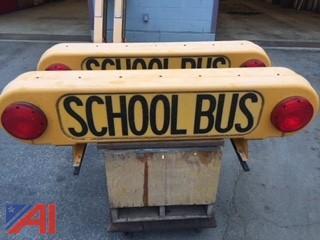 (2) Fiberglass School Bus Signs