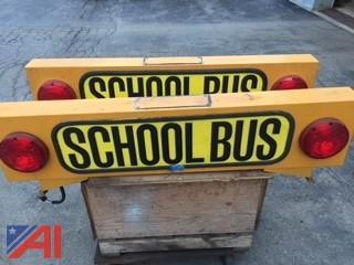 (2) Stainless Steel School Bus Signs