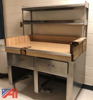 Stainless Steel Prep Table w/ Wood