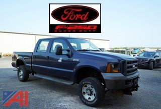 2005 Ford F250 Crew Cab Pickup Truck with Plow