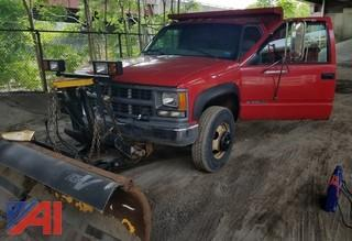 1998 Chevrolet 3500 1 Ton Dump with Plow & Stainless Steel Sander