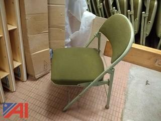 (11) Green Padded Fold Out Chairs