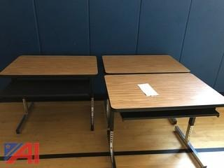 (10) Computer Desks with Keyboard Trays