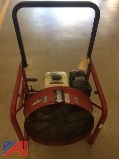 Super Vac Gas Powered Fan
