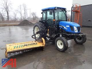 2007 New Holland TN70 Tractor with Flail Mower