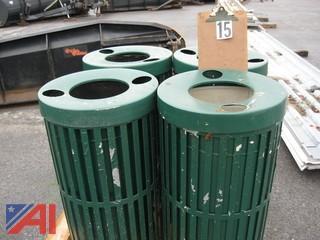 (4) Outdoor Trash Receptacles