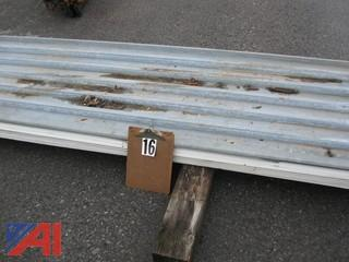 (25) Sheets of Roofing Metal