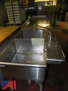 Stainless Steel Sinks with Counter