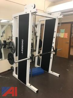 Legend Cage Smith Machine with Olympic A-Frame Plate Holder
