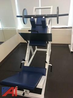Leg Press with Plate Holder Tree