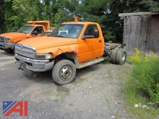 2002 Dodge Ram 3500 Pickup with Chassis