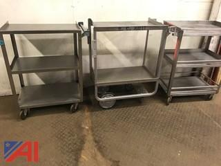 (3) Stainless Steel Carts
