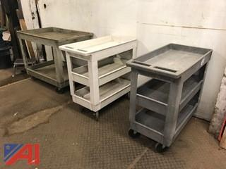 (3) Rubbermaid Carts