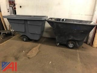 (2) Rubbermaid Dump Hoppers