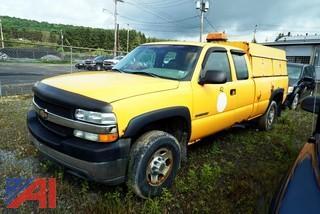 2001 Chevy Silverado 2500 HD Crew Cab Utility Pickup Truck