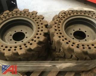 (4) Skid Steer Tires Off a JCB 175
