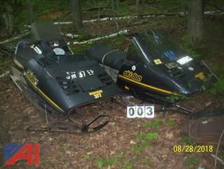 (2) 1984 SkiDoo 377 Snowmobiles