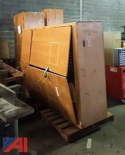 (3) Wood Shop Storage Cabinets
