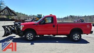 2013 Ford F250 XL SD Pickup with Plow