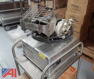 Hollymatic Super 54 Patty Machine with Parts and Cart