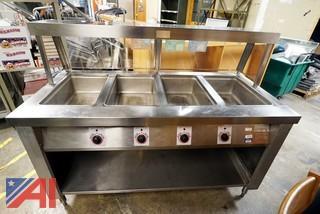 Servo Lift #501-4 4 Stainless Steel Well Hot Buffet Electric Food Warmer