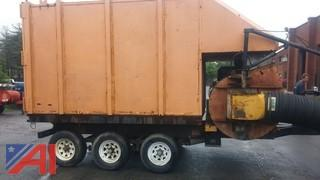 1996 Old Dominion Brush 20 Yard Tow Behind Leaf Collection Trailer