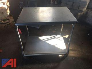 Stainless Steel 2 Shelf Cart
