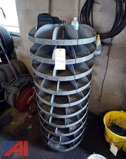 10 Tier Revolving Steel Parts Supply Rack