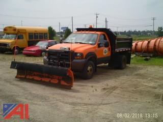 2005 Ford F350 XL Super Duty Pickup with Dump Body and Plow