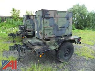 2009 Fermont Diesel Military 15kw Generator MEP-804B Mounted on Trailer