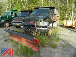 2006 GMC C5500 Dump Truck with Sander and Plow