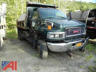 2009 GMC C5500 Dump Truck with Sander and Plow