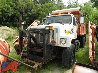 2002 International 2574 Dump Truck with Sander and Plow