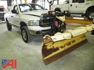 2004 Dodge Ram 2500 Pickup with Plow