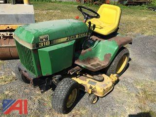 John Deere 318 Riding Lawn Mower