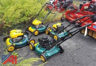 (4) Yard Man Walk Behind Lawn Mowers