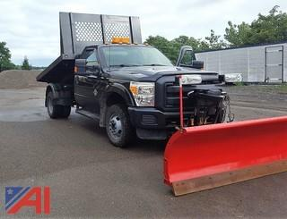 2013 Ford F350 XL Super Duty Stake Rack Truck & Plow