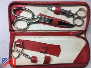 Griffon Scissors with Leather Case