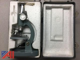 Vintage Revue 300X Microscope with Case