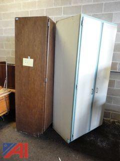 (2) Wooden Storage Cabinets