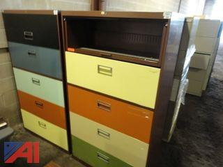 (8) Assorted Lateral Filing Cabinets