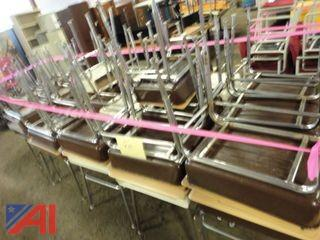 (36) Metal Student Desks