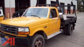 1994 Ford F450 Flat Bed with Rack