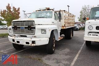 1987 Ford F600 Rack truck