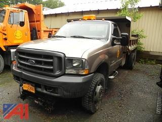 2003 Ford F550 Pickup with Dump Body and Plow