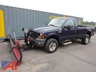 2007 Ford F350 XL Super Duty Pickup Truck & Plow