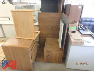 (2) L-Shaped Wood Desks