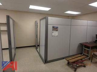 Approximately 40' of Cubicle Wall with Slider Doors