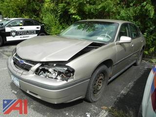 2003 Chevrolet Impala 4 Door Sedan/Police Vehicle
